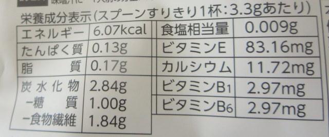 ひとてまいの栄養素スプーンすりきり1杯分