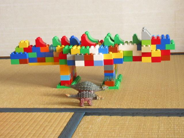 レゴデュプロで作ったアンキロサウルス