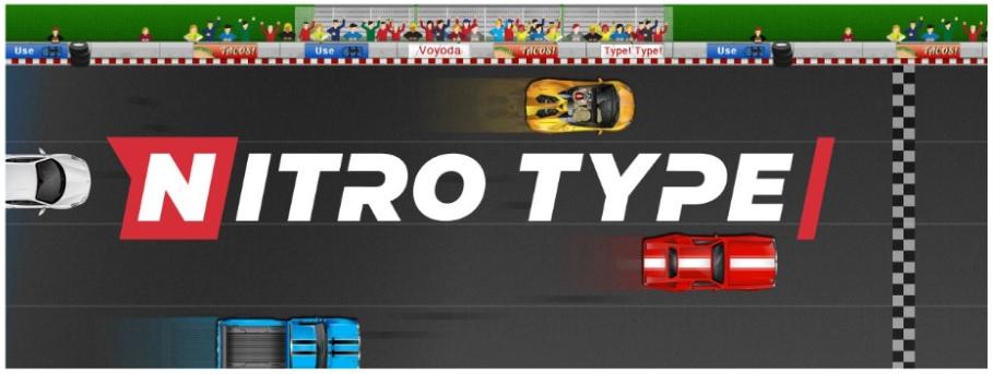 Typing.comの車のレースの『タイピングゲーム Nitro Type