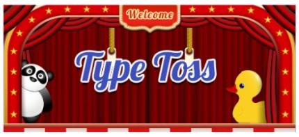 Typing.comのゲーム Type Toss