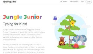 Typing Clubの子供向けタイピングサイト ジャングルジュニア